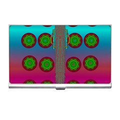 Meditative Abstract Temple Of Love And Meditation Business Card Holders