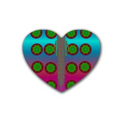 Meditative Abstract Temple Of Love And Meditation Rubber Coaster (heart)