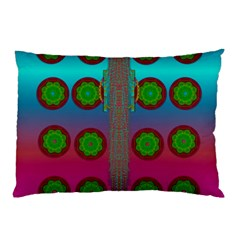 Meditative Abstract Temple Of Love And Meditation Pillow Case