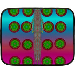 Meditative Abstract Temple Of Love And Meditation Double Sided Fleece Blanket (mini)
