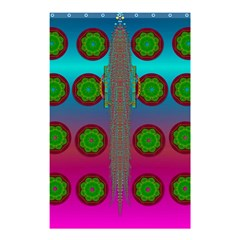 Meditative Abstract Temple Of Love And Meditation Shower Curtain 48  X 72  (small)