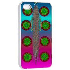 Meditative Abstract Temple Of Love And Meditation Apple Iphone 4/4s Seamless Case (white)