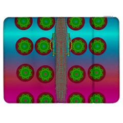 Meditative Abstract Temple Of Love And Meditation Samsung Galaxy Tab 7  P1000 Flip Case