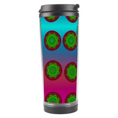 Meditative Abstract Temple Of Love And Meditation Travel Tumbler
