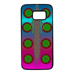 Meditative Abstract Temple Of Love And Meditation Samsung Galaxy S7 Black Seamless Case