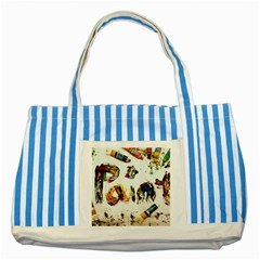 Paint Striped Blue Tote Bag