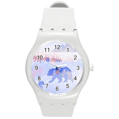 My Tribe,modern Art Round Plastic Sport Watch (m)