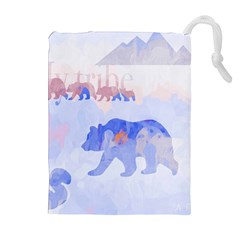 My Tribe,modern Art Drawstring Pouches (extra Large)