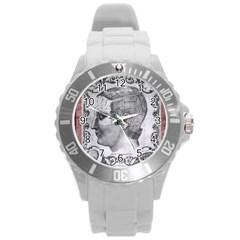 Vintage 1181664 1280 Round Plastic Sport Watch (l)