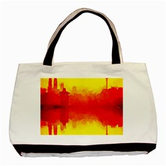 Sun Rise,city,modern Art Basic Tote Bag (two Sides)
