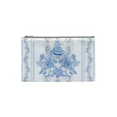 Beautiful,pale Blue,floral,shabby Chic,pattern Cosmetic Bag (small)