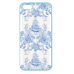 Beautiful,pale Blue,floral,shabby Chic,pattern Apple Seamless Iphone 5 Case (color)