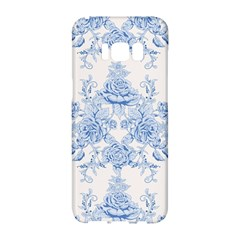Beautiful,pale Blue,floral,shabby Chic,pattern Samsung Galaxy S8 Hardshell Case