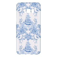 Beautiful,pale Blue,floral,shabby Chic,pattern Samsung Galaxy S8 Plus Hardshell Case