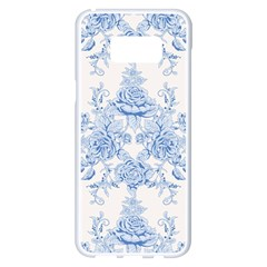 Beautiful,pale Blue,floral,shabby Chic,pattern Samsung Galaxy S8 Plus White Seamless Case
