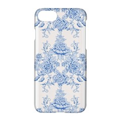 Beautiful,pale Blue,floral,shabby Chic,pattern Apple Iphone 8 Hardshell Case
