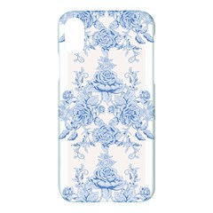 Beautiful,pale Blue,floral,shabby Chic,pattern Apple Iphone X Hardshell Case