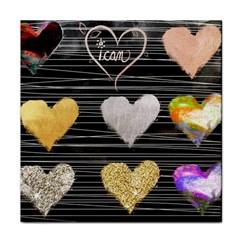 Modern Heart Pattern Tile Coasters