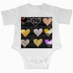 Modern Heart Pattern Infant Creepers