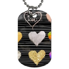 Modern Heart Pattern Dog Tag (one Side)
