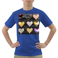 Modern Heart Pattern Dark T Shirt