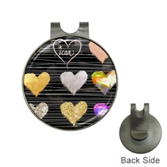 Modern Heart Pattern Hat Clips With Golf Markers