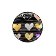 Modern Heart Pattern Hat Clip Ball Marker