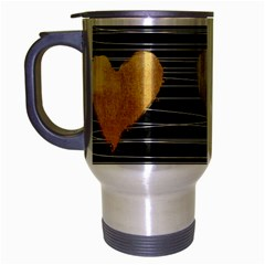 Modern Heart Pattern Travel Mug (silver Gray)