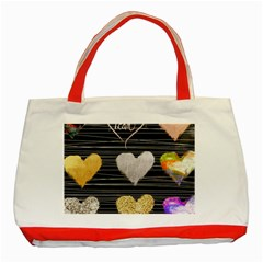 Modern Heart Pattern Classic Tote Bag (red)