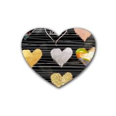Modern Heart Pattern Heart Coaster (4 Pack)