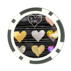 Modern Heart Pattern Poker Chip Card Guard (10 Pack)