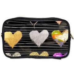 Modern Heart Pattern Toiletries Bags 2 Side