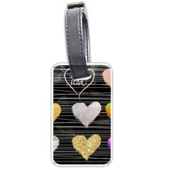 Modern Heart Pattern Luggage Tags (two Sides)