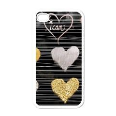 Modern Heart Pattern Apple Iphone 4 Case (white)