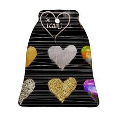 Modern Heart Pattern Ornament (bell)