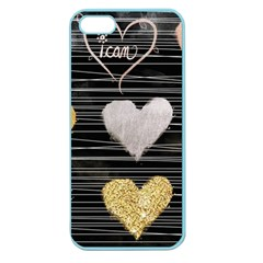 Modern Heart Pattern Apple Seamless Iphone 5 Case (color)