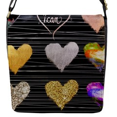 Modern Heart Pattern Flap Messenger Bag (s)