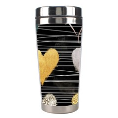 Modern Heart Pattern Stainless Steel Travel Tumblers