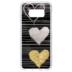 Modern Heart Pattern Samsung Galaxy S8 White Seamless Case