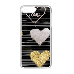 Modern Heart Pattern Apple Iphone 8 Plus Seamless Case (white)