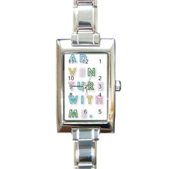 Adventure With Me Rectangle Italian Charm Watch