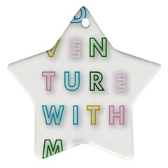 Adventure With Me Ornament (star)