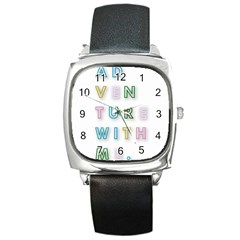 Adventure With Me Square Metal Watch