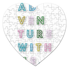 Adventure With Me Jigsaw Puzzle (heart)
