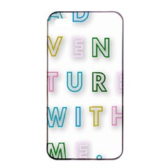 Adventure With Me Apple Iphone 4/4s Seamless Case (black)