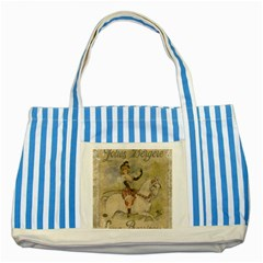 Vintage 1181677 1920 Striped Blue Tote Bag