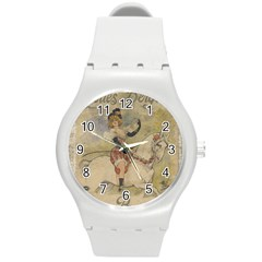 Vintage 1181677 1920 Round Plastic Sport Watch (m)
