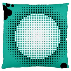 Circle Therapy Print Large Flano Cushion Case (two Sides)