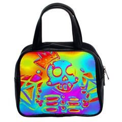 Rainbow Skeleton King Classic Handbags (2 Sides)
