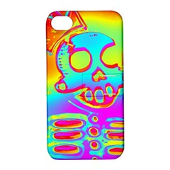 Rainbow Skeleton King Apple Iphone 4/4s Hardshell Case With Stand